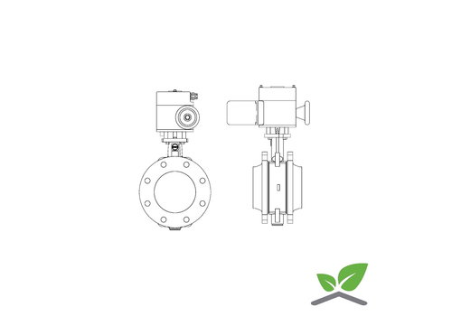 Ebro butterfly valve Z011-a with motor; pressure PN6/10/16