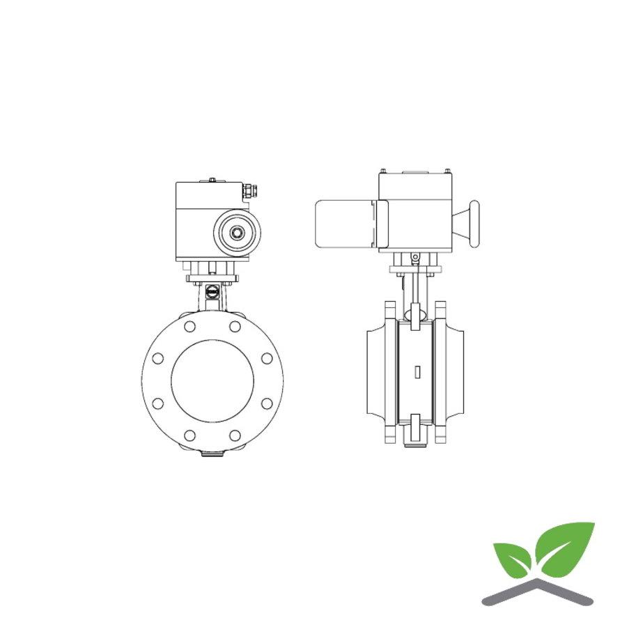 Ebro vlinderafsluiter Z011-a met E-motor ; DN 25  t/m 300 mm; druktrap PN6/10/16-1