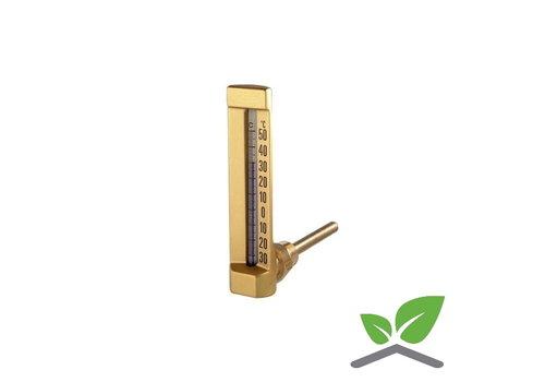 """Staaf - vloeistofthermometer haaks 1/2"""" 0...+120 gr. C"""