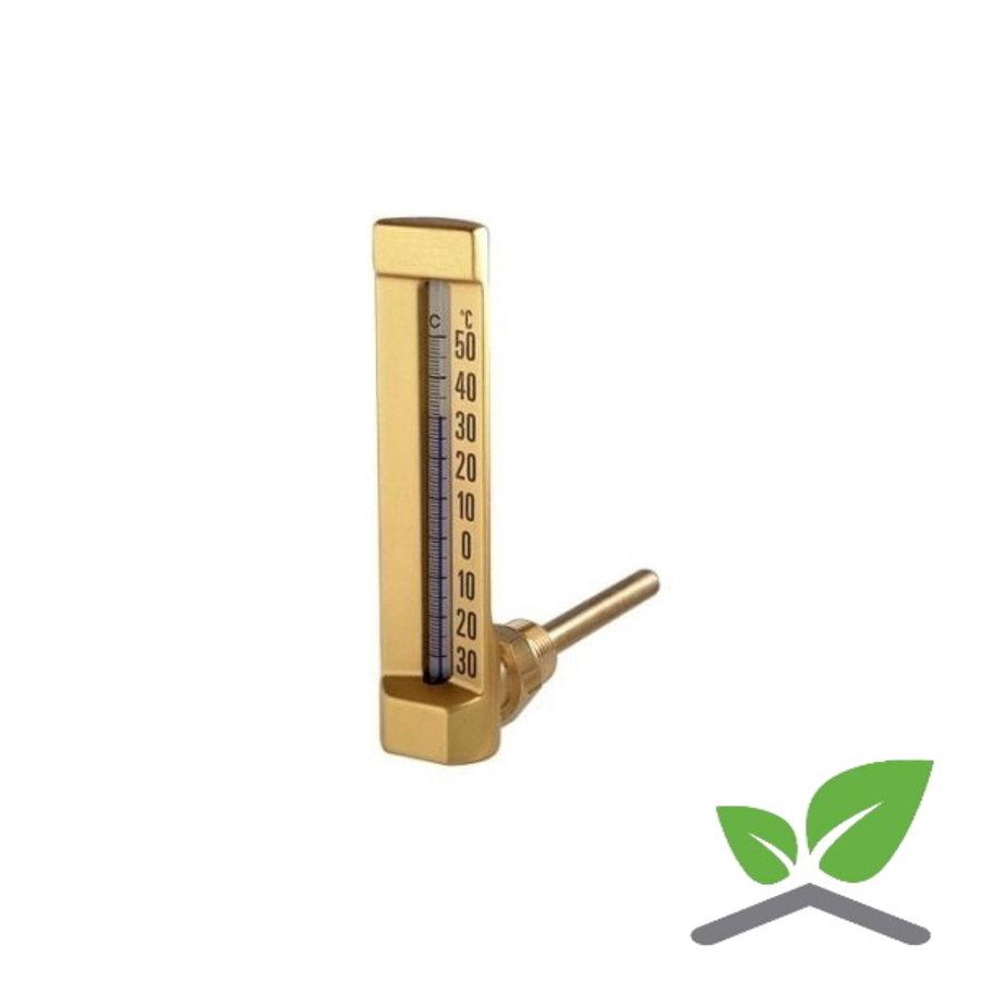 """Staaf - vloeistofthermometer haaks 1/2"""" 0...+120 gr. C-1"""