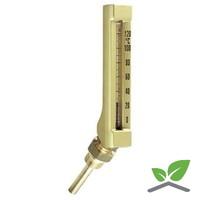 "Staaf - vloeistofthermometer schuin 1/2"" 0...+120 gr. C"
