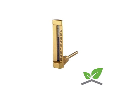 """Staaf - vloeistofthermometer haaks 1/2"""" 0...+60 gr. C"""