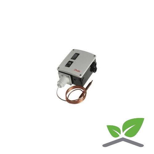 Danfoss RT 101 thermostaat met cil. afstandvoeler en capillair  +25...+90 gr. C