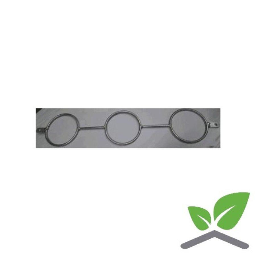 Giebelhaken mit einzigen Lippe für 3x Rohre 51 zu 168 mm (Bündel 15 Stück)-1