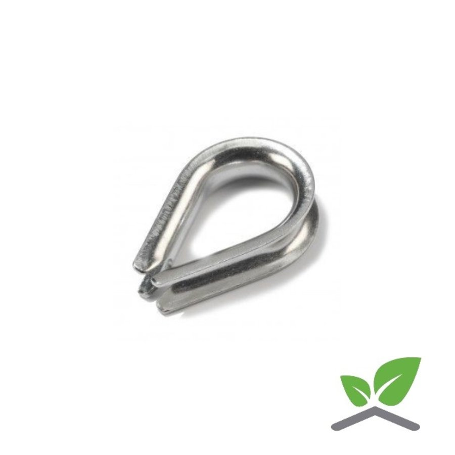 Thimble, Stainless for cable 2 - 8 mm per 100 pieces-1