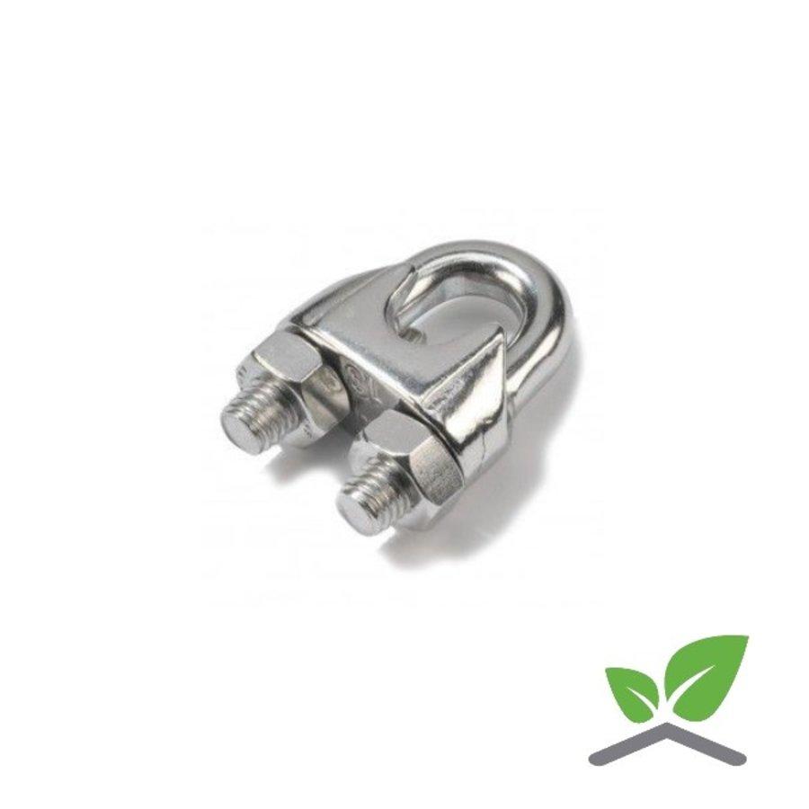 Staalkabel klem RVS voor kabel 2 t/m 8 mm (verpakt per 100 stuks)-1