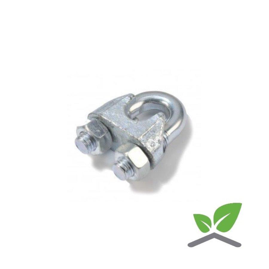Staalkabel klem verzinkt voor kabel 3 t/m 8 mm (verpakt per 100 stuks)-1