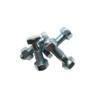Set of 4 bolts + 4 nuts hexagonal galvanized