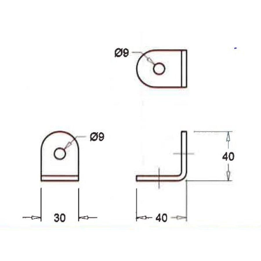 Goot hook, galvanised, box 250 pieces-2