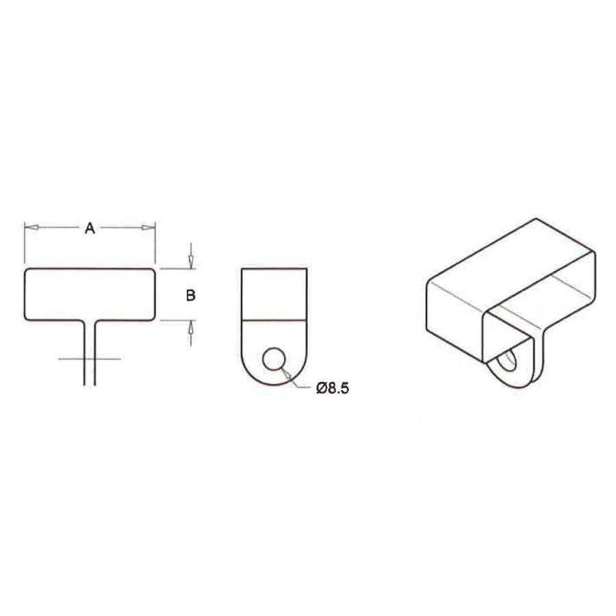 Gitterbindenbügel 60 x 30 mm, zentrisch, galvanisiert, Karton 250 Stück-2