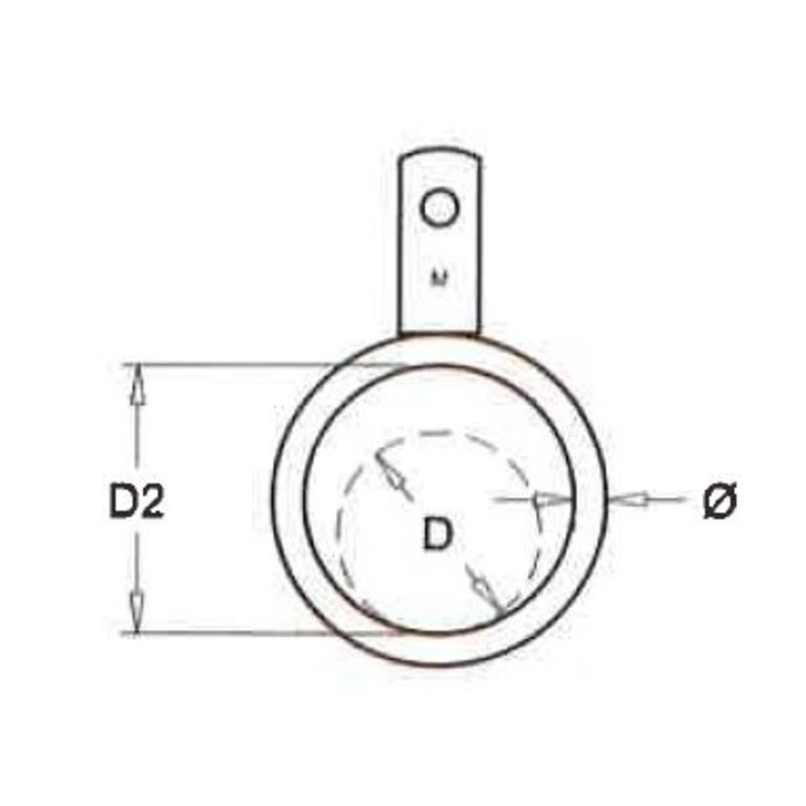 Ring enkel lip voor buis 51 t/m 219 mm (per bundel)-2