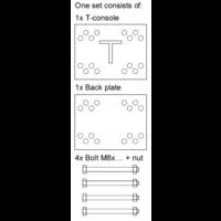thumb-T-Konsole für Stutz 40 - 100 mm - Komplettset-8