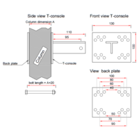 thumb-T-Konsole für Stutz 40 - 100 mm - Komplettset-10