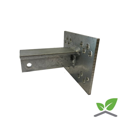 T-console 100 mm for post 40 - 100 mm dip galvanised.