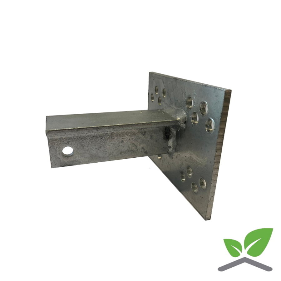 T-console 100 mm for post 40 - 100 mm dip galvanised.-1