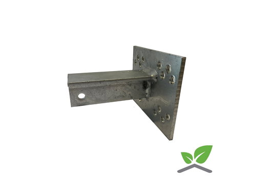 T-console 100 mm for post 60-120 mm dip galvanised