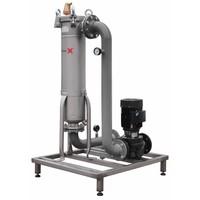 Sotex Teilstromfilter mit Johnson Pumpe und Leitungen auf Stahlrahmen SFU+
