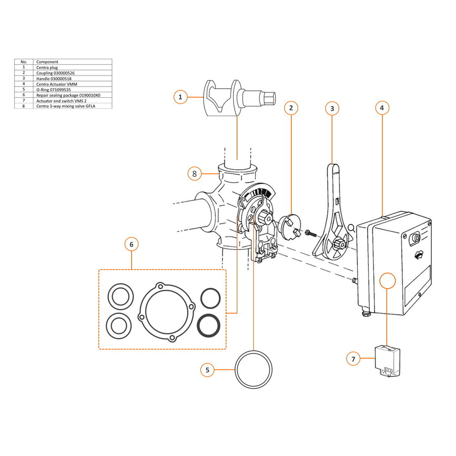 Centra Dichtungssatz Mischer ZR/DR DN 15 - 200-2
