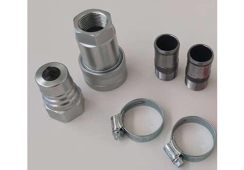 Quick coupling set for hose 1""
