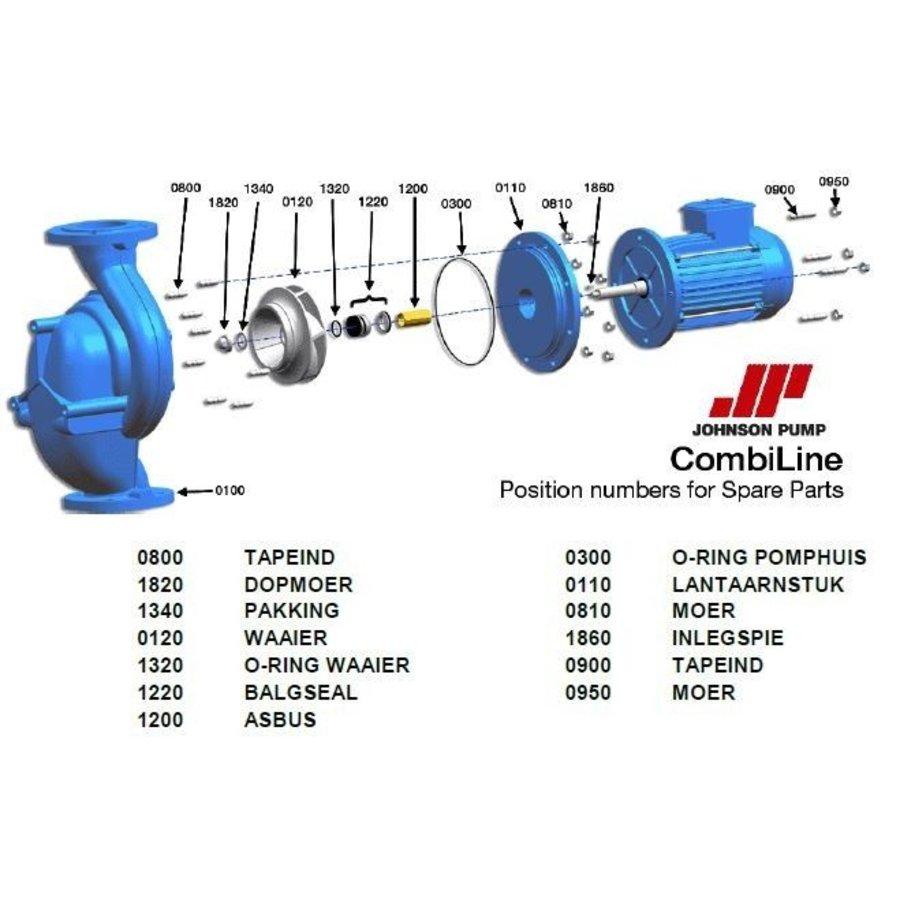 Reparatie sealset Johnson CL pomp -CL 125C-200 9,2kw en CL 125-160 5,5kw-1
