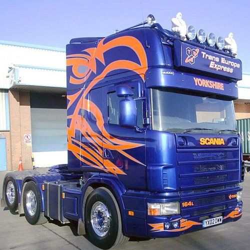 Scania 4-series sun visor type 2A