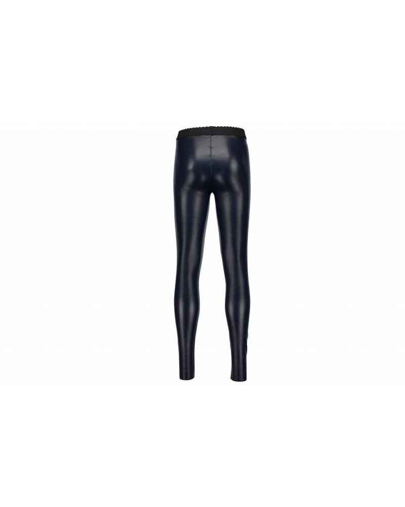 Like Flo Leather Legging - navy