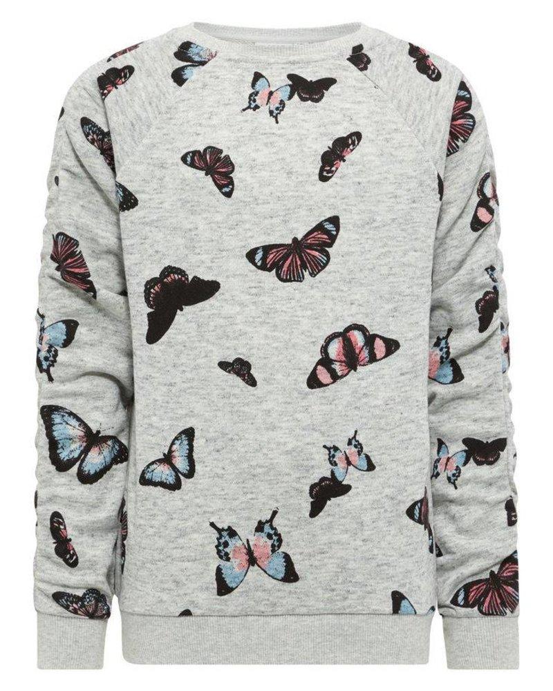 Name It NKFKutter vlindertrui (grijs)