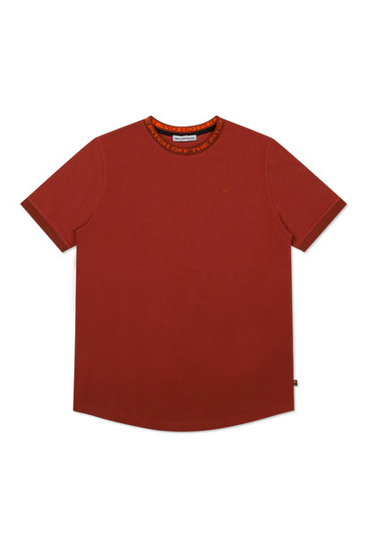 Off The Pitch T-shirt Solar Brique Steenrood Heren