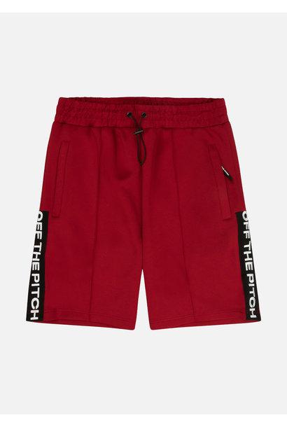 Off The Pitch Short Soul Donkerrood Heren