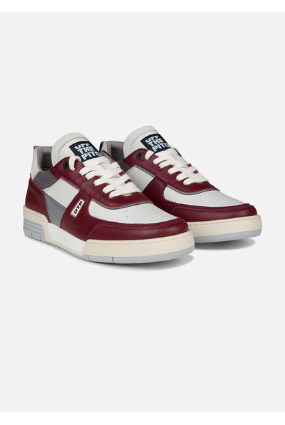 Off The Pitch Sneakers Basketta Rood Wit Grijs Heren