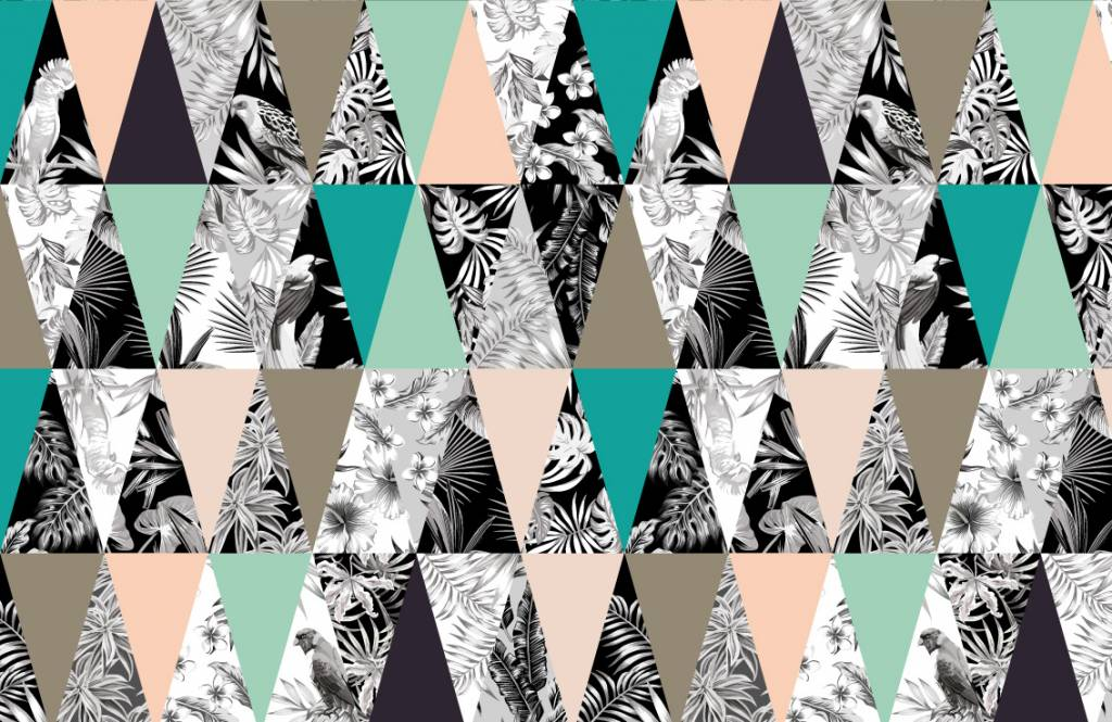 Kinderkamer Patronen Behang : Behang met een tropisch patroon fotobehang