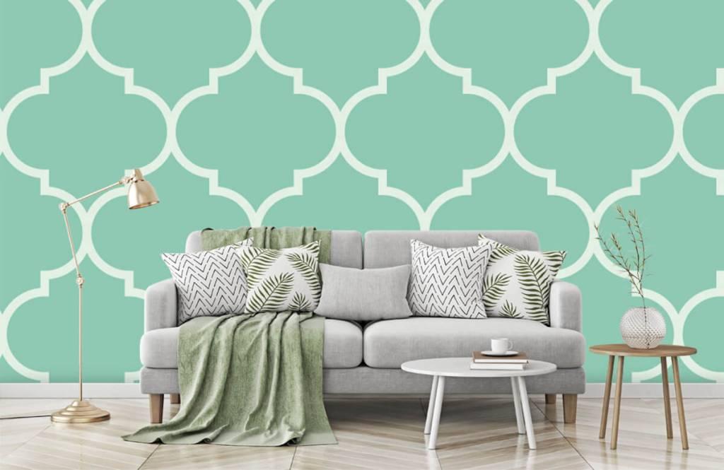 Tegels Met Patroon : Behang met een tegel patroon fotobehang