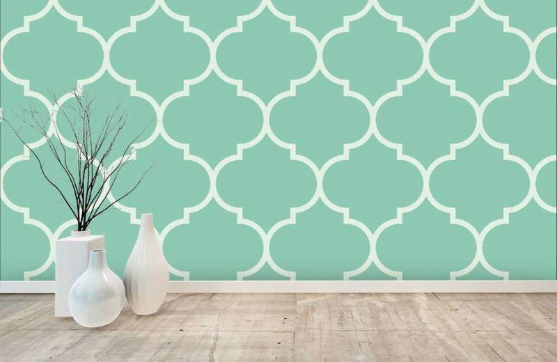 Behang Met Patroon : Behangen met patroon. perfect kangas hedendaags art deco lijm nodig