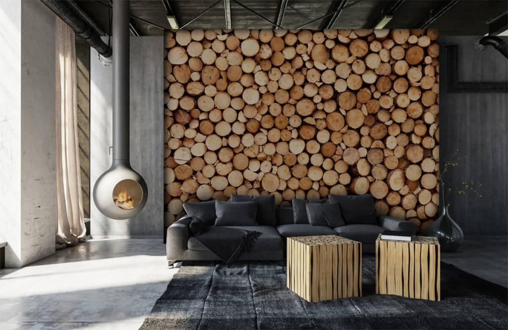 Fotobehang met brandhout fotobehang