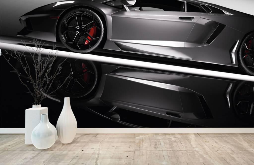 Grijze Lamborghini