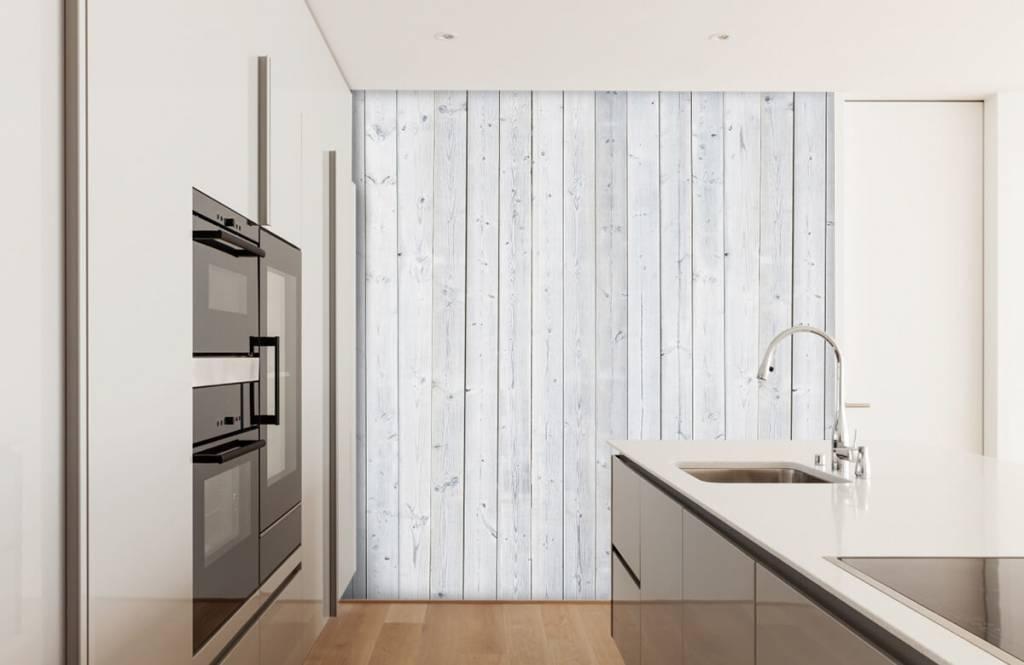 Babykamer Behang Hout : Aantrekkelijk babykamer behang hout houtstrips style walls