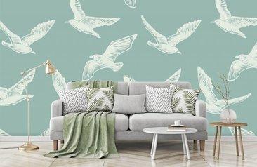 Behang Kinderkamer Vogeltjes : Fotobehang met vogels. met vogelbehang haal je de natuur in huis