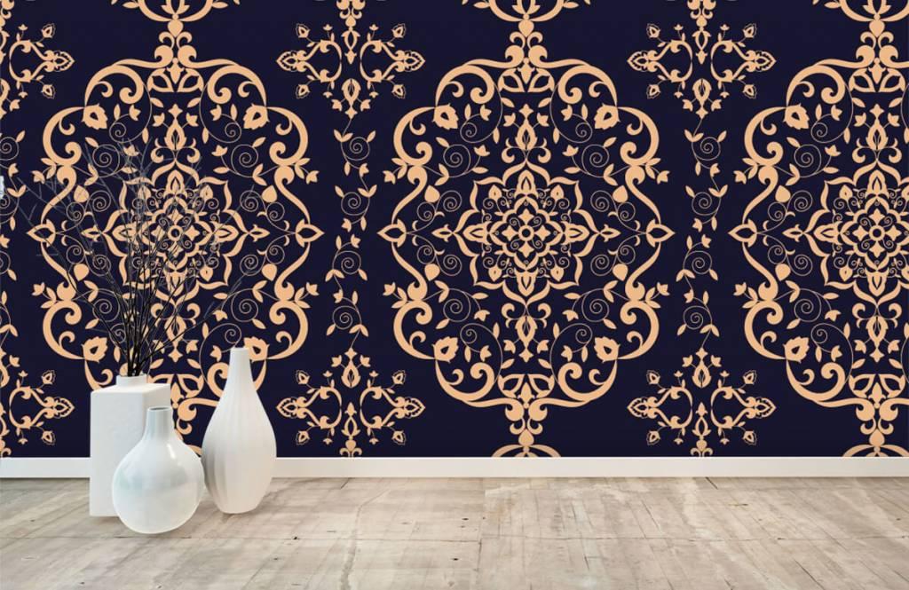 Behang Met Patroon : Behang met een victoriaans barok patroon fotobehang