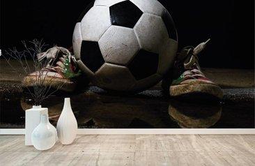 Voetbal Slaapkamer Accessoires : Maak van je kamer een stadion met voetbal behang fotobehang