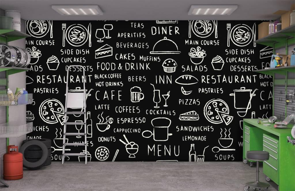 Restaurant fotobehang