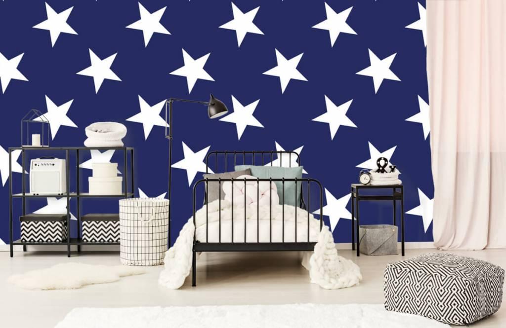 Babykamer Behang Sterren : Behang met witte sterren fotobehang