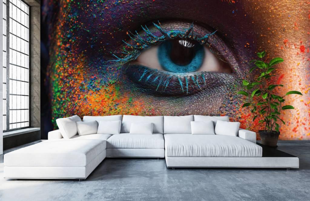 Kleurrijk oog