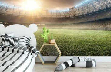 Behang Kinderkamer Voetbal : Maak van je kamer een stadion met voetbal behang fotobehang