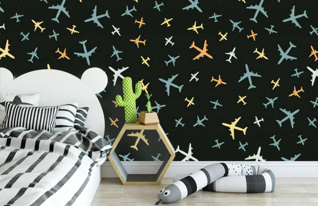 Behang Kinderkamer Vliegtuigen : Behang met vliegtuigen fotobehang