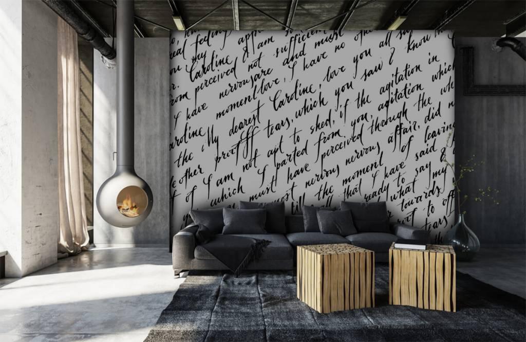 Behang Babykamer Romantisch : Behang met een romantische tekst fotobehang