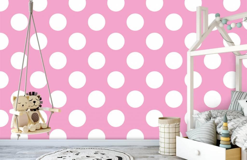 Behang Met Stippen : Behang met grote witte stippen fotobehang