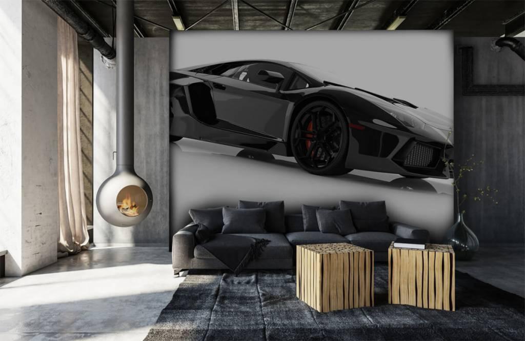 Zwarte supercar