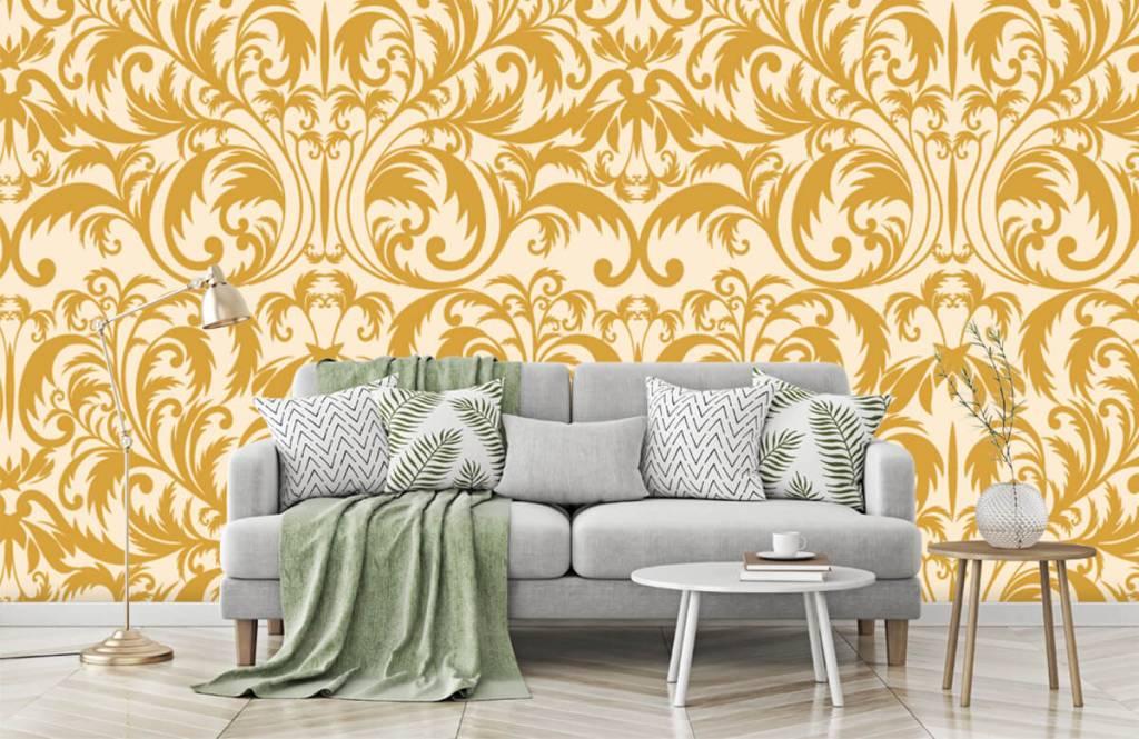 Behang Met Patroon : Behang met een gouden barok patroon fotobehang