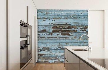 Een Sloophout Interieur : Hout behang online kopen zoals sloophout en steigerhout behang