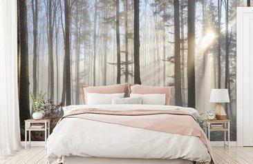 Interieur Slaapkamer Behang : Bos behang kopen fotobehang